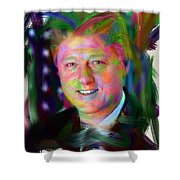President William J. Clinton Shower Curtain