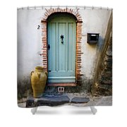 Provence Door Number 2 Shower Curtain
