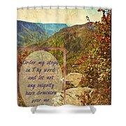 Psalm 119 133 Shower Curtain
