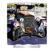Psychedelic Old Pickup Truck 2 Shower Curtain