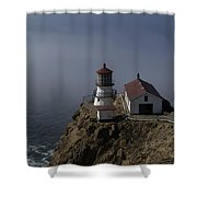 Pt Reyes Lighthouse Shower Curtain by Bill Gallagher