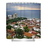 Puerto Vallarta And Pacific Ocean Shower Curtain