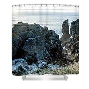 Punakaiki Pancake Rocks Shower Curtain