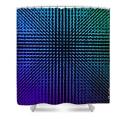 Purple And Green Lamps Shower Curtain