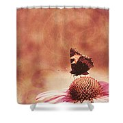 Purple Echinacea Flower Shower Curtain