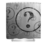 Question Mark Background Bw Shower Curtain
