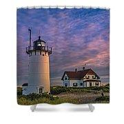Race Point Lighthouse Sunset Shower Curtain