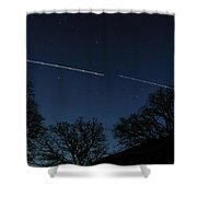 Racing The Stars Shower Curtain