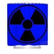 Radiation Warning Sign Shower Curtain