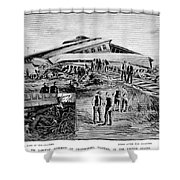 Railroad Accident, 1887 Shower Curtain