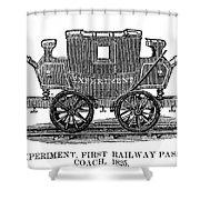 Railroad Passenger Car Shower Curtain