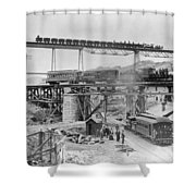 Railroading Construction Shower Curtain