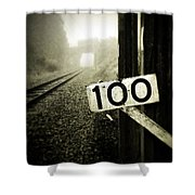 Railway  Shower Curtain by Les Cunliffe