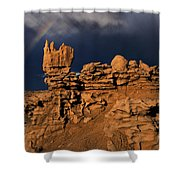 Rainbow And Sandstone Formations Fantasy Canyon Utah Shower Curtain