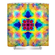 Rainbow Light Mandala Shower Curtain