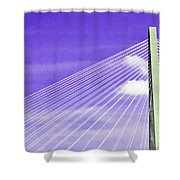 Ravenel Bridge # 2 Shower Curtain