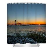 Charleston Sundown Shower Curtain