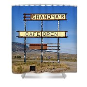 Rawlins Wyoming - Grandma's Cafe Shower Curtain