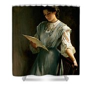 Reading The Letter Shower Curtain