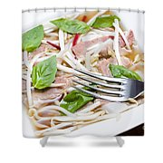 Ready To Serve Bowl Of Pho Bo Shower Curtain