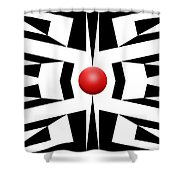 Red Ball 8 Shower Curtain