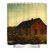 Red Barn   No. 3 Shower Curtain