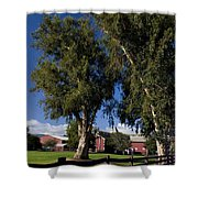 Red Barn Stanford University Shower Curtain