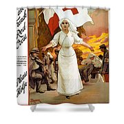 Red Cross Poster, 1915 Shower Curtain