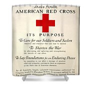Red Cross Poster, 1917 Shower Curtain