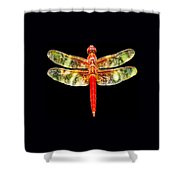 Red Dragonfly Small Shower Curtain