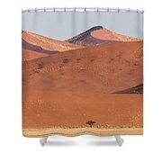 Red Dunes, Sossusvlei, Namib Desert Shower Curtain