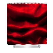 Red Folded Satin Background Shower Curtain