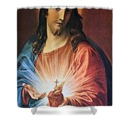 Red Heart Shower Curtain