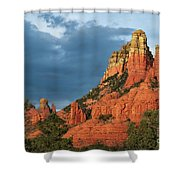 Red Hills 4 Shower Curtain