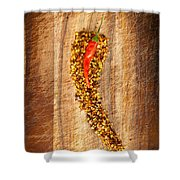 Red Hot Chilli Concept Shower Curtain