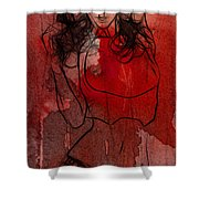 Red Is The Color Of Love Shower Curtain