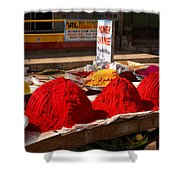 Red Powder Shower Curtain