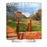 Enter Red Rock Country Shower Curtain
