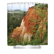 Red Rocks Of Roussillon  Shower Curtain