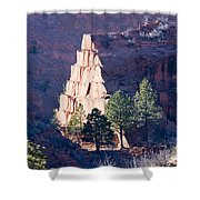 Red Rocks Open Space Shower Curtain