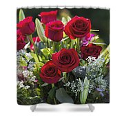 Red Rose Romance Shower Curtain