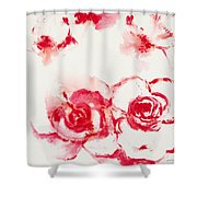 Red Rover I Shower Curtain
