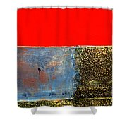 Red Wall Shower Curtain