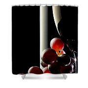 Red Wine With Grapes Shower Curtain