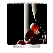 Red Wine With Grapes Shower Curtain by Johan Swanepoel