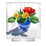 Red Yellow And Blue Shower Curtain