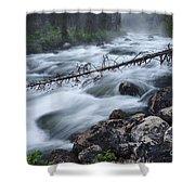 Redfish Creek In Stanley Idaho Shower Curtain