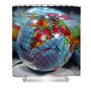 Reflected Globe Shower Curtain