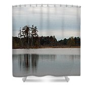 Reflected Trees Shower Curtain