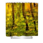 Reflecting On Autumn Shower Curtain